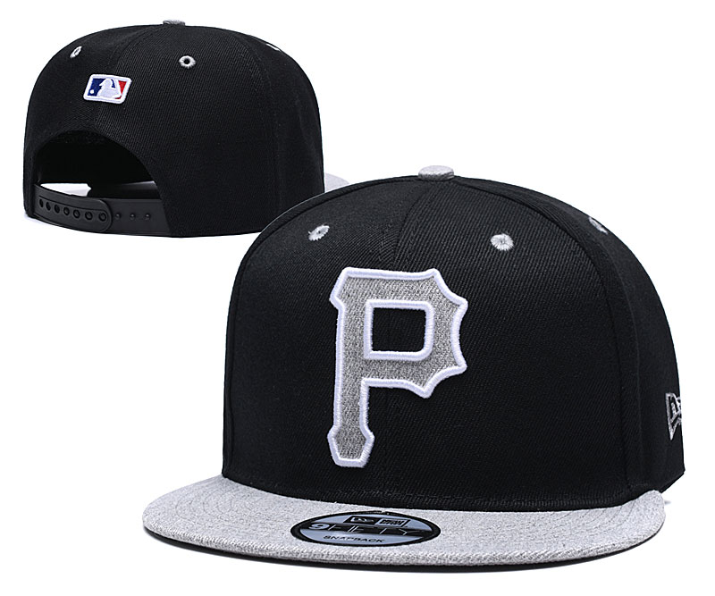 Pirates Team Logo Black Gray Adjustable Hat TX