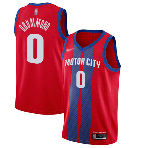 Pistons #0 Andre Drummond Red Basketball Swingman City Edition 2019 20 Jersey