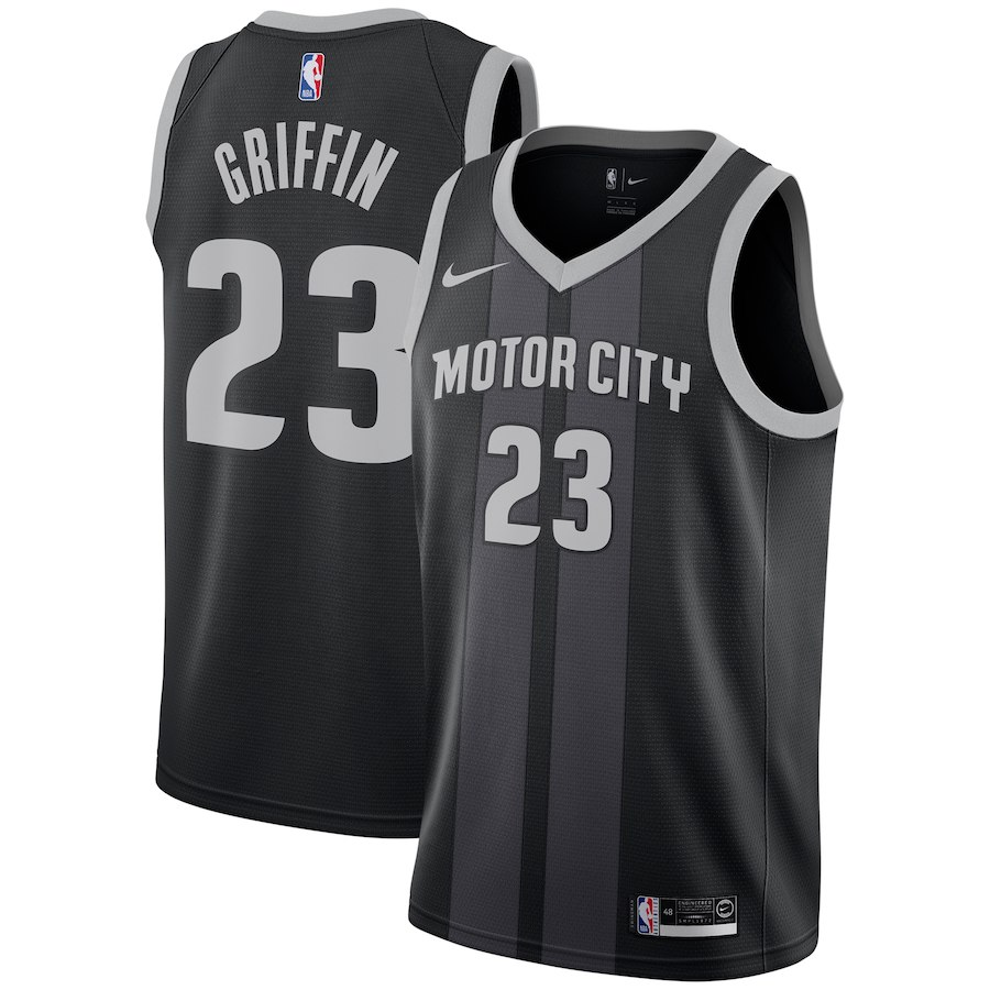 Pistons 23 Blake Griffin Black 2018-19 City Edition Nike Swingman Jersey