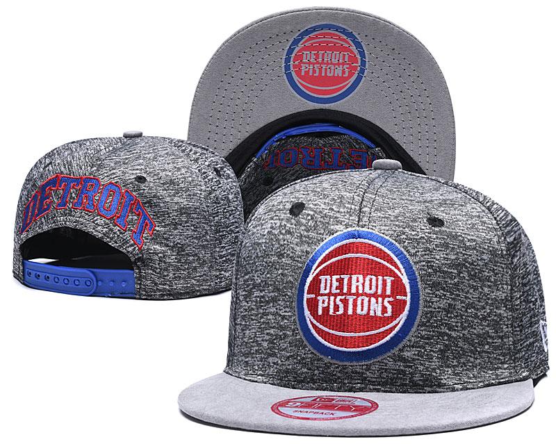 Pistons Team Logo Gray Adjustable Hat TX