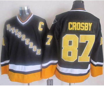 huge selection of d105b 6de90 Pittsburgh Penguins #87 Sidney Crosby BlackYellow CCM ...