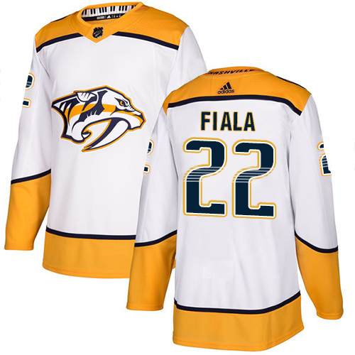 Predators #22 Kevin Fiala White Road Authentic Stitched Hockey Jersey