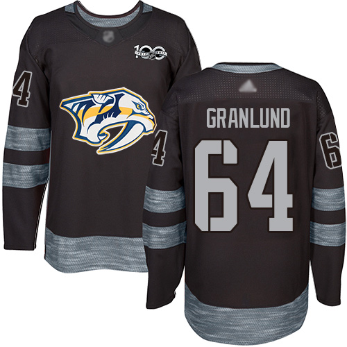 Predators #64 Mikael Granlund Black 1917-2017 100th Anniversary Stitched Hockey Jersey