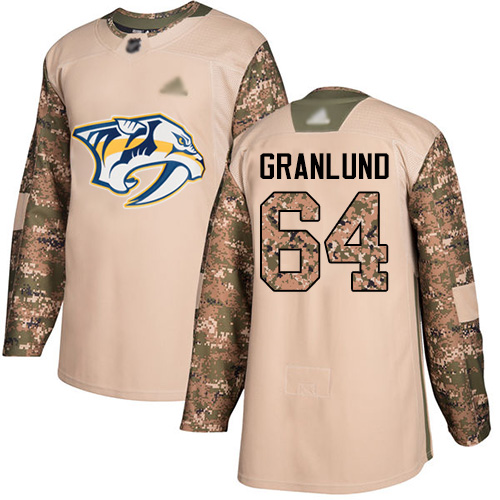 Predators #64 Mikael Granlund Camo Authentic 2017 Veterans Day Stitched Hockey Jersey