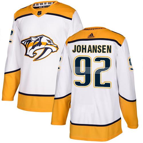 Predators #92 Ryan Johansen White Road Authentic Stitched Hockey Jersey