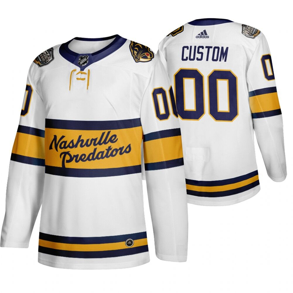 Predators Customized White 2020 Winter Classic Adidas Jersey