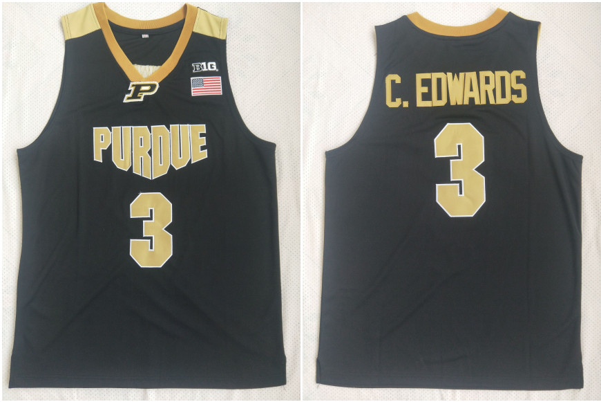 Purdue 3 Carsen Edwards Black College Basketball Jersey