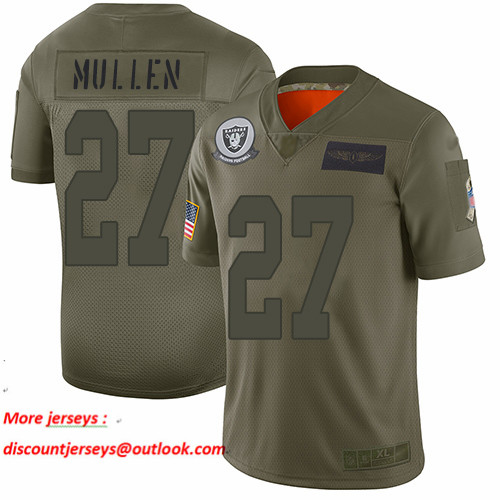 Raiders #27 Trayvon Mullen Camo Men's Stitched Football Limited 2019 Salute To Service Jersey