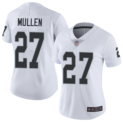Raiders #27 Trayvon Mullen White Women's Stitched Football Vapor Untouchable Limited Jersey