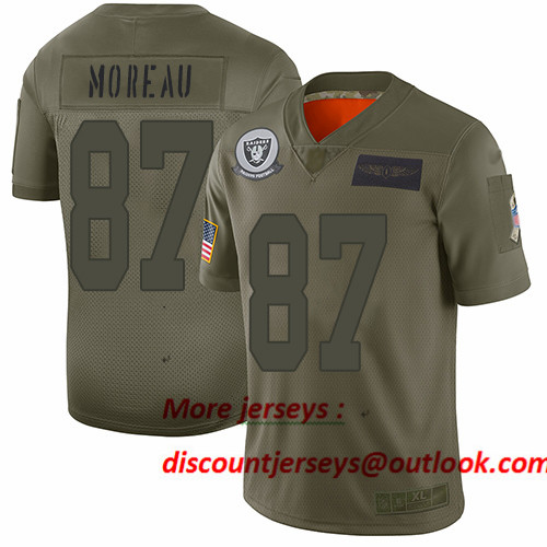 Raiders #87 Foster Moreau Camo Men's Stitched Football Limited 2019 Salute To Service Jersey