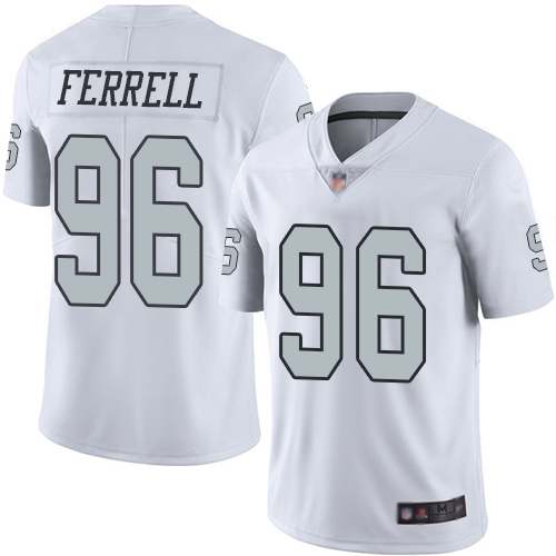 Raiders #96 Clelin Ferrell White Men's Stitched Football Limited Rush Jersey