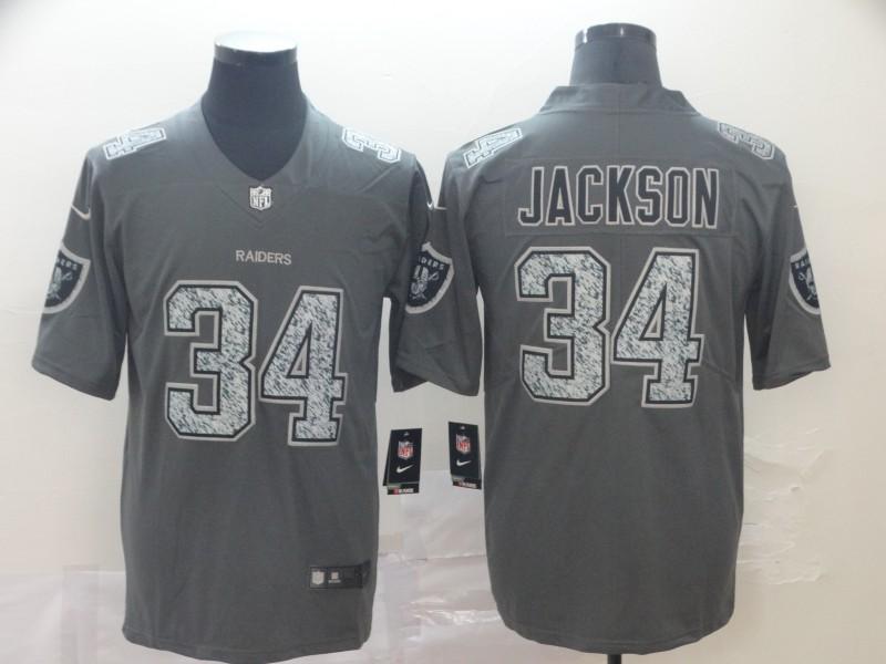 Raiders 34 Bo Jackson Gray Camo Vapor Untouchable Limited Jersey