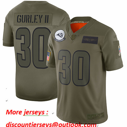Rams #30 Todd Gurley II Camo Youth Stitched Football Limited 2019 Salute to Service Jersey