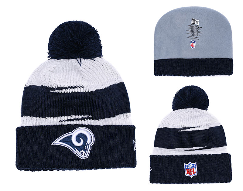 Rams Team Logo Navy Knit Hat YD