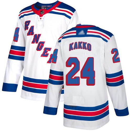 Rangers #24 Kaapo Kakko White Road Authentic Stitched Hockey Jersey