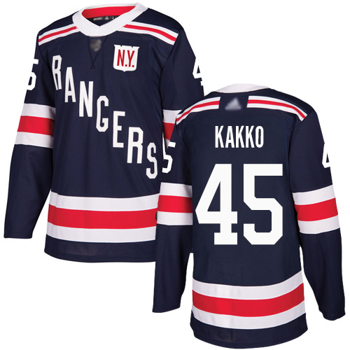 Rangers #45 Kaapo Kakko Navy Blue Authentic 2018 Winter Classic Stitched Youth Hockey Jersey