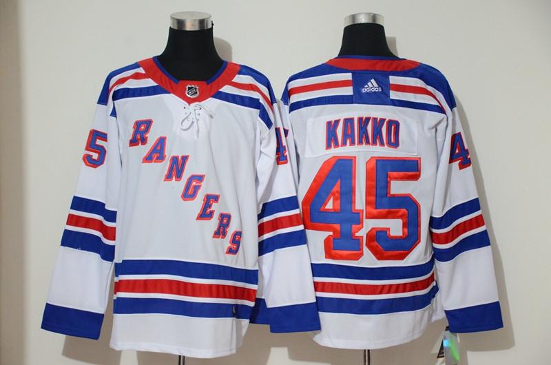 Rangers 45 Kaapo Kakko White Adidas Jersey