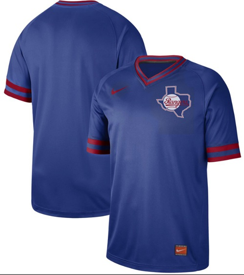 Rangers Blank Royal Authentic Cooperstown Collection Stitched Baseball Jersey
