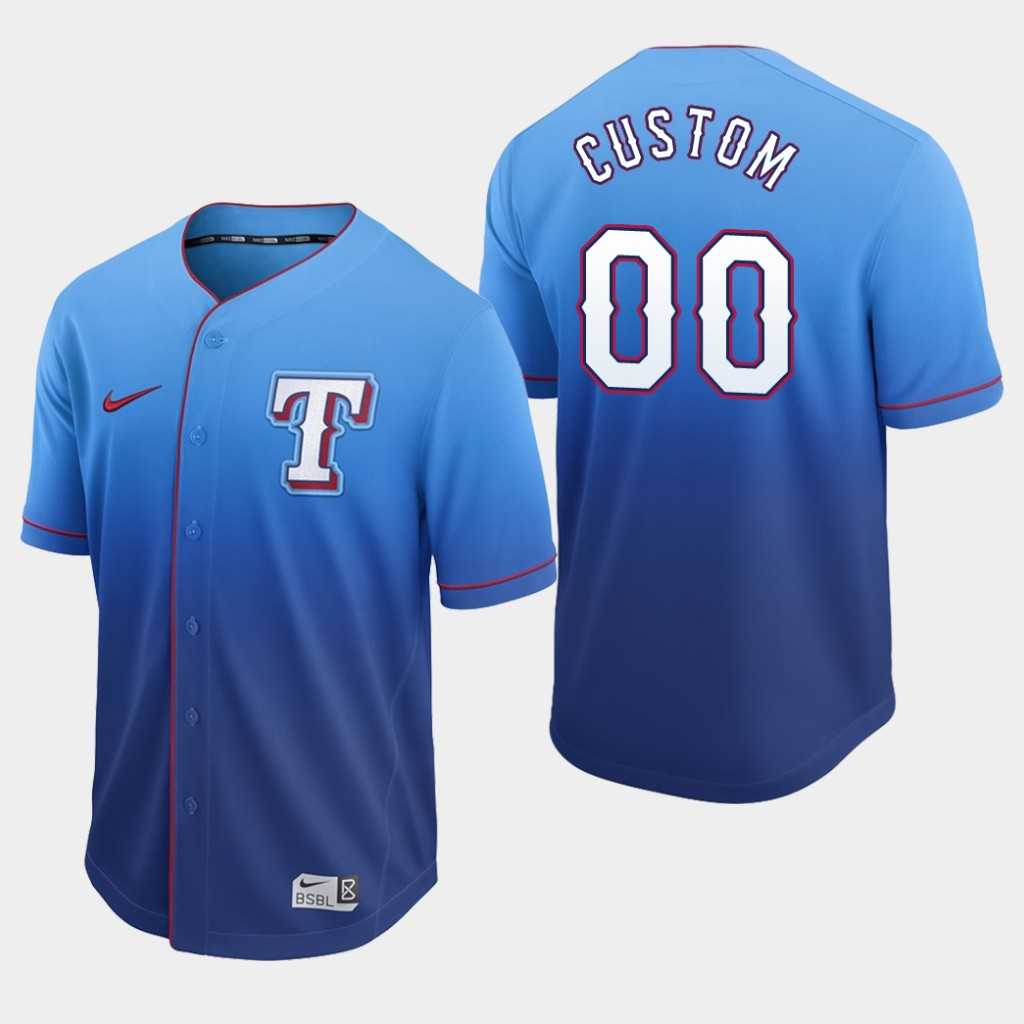 Rangers Custom Royal Fade Authentic Jersey