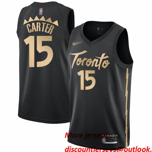 Raptors #15 Vince Carter Black Basketball Swingman City Edition 2019 20 Jersey