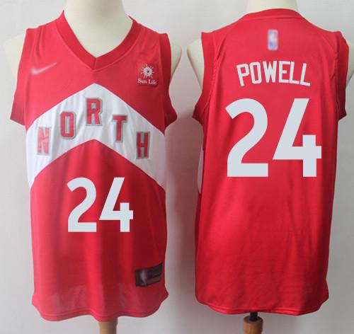 Raptors #24 Norman Powell Red Basketball Swingman Earned Edition Jersey