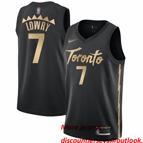 Raptors #7 Kyle Lowry Black Basketball Swingman City Edition 2019 20 Jersey
