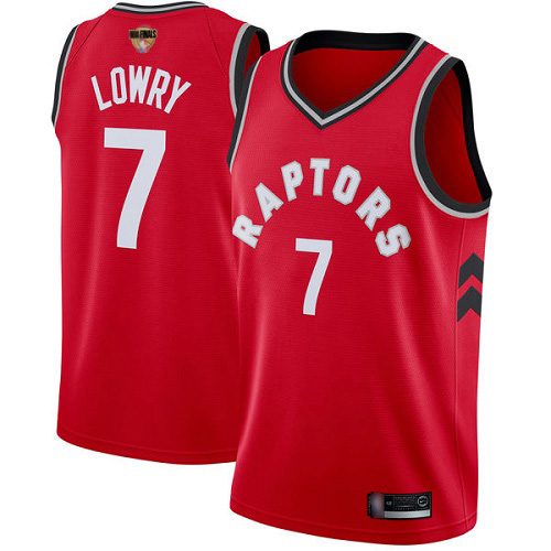 Raptors #7 Kyle Lowry Red 2019 Finals Bound Basketball Swingman Icon Edition Jersey