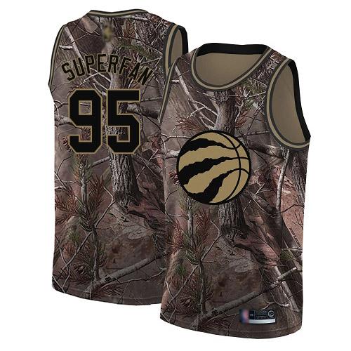 Raptors #95 Superfan Camo Basketball Swingman Realtree Collection Jersey