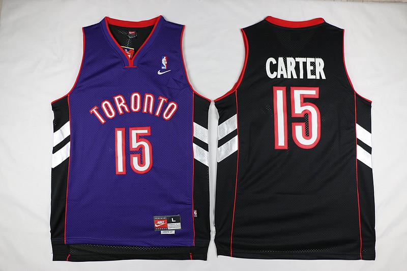 Raptors 15 Vince Carter Black Purple Nike Mesh Swingman Jersey