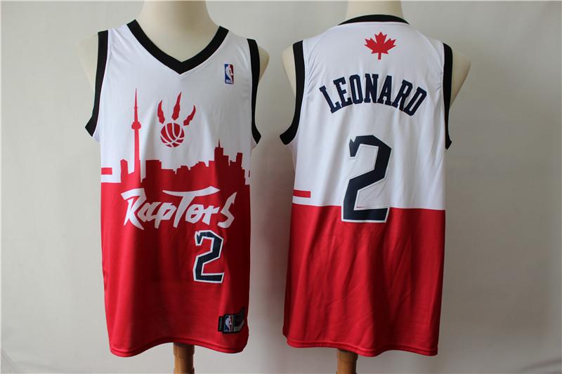 Raptors 2 Kawhi Leonard White Red 2019 City DNA Swingman Jersey