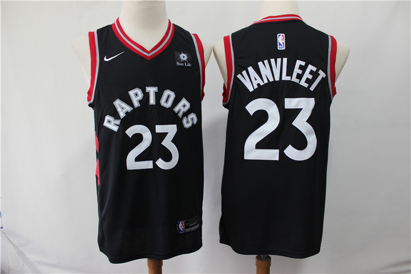 Raptors 23 Fred Vanvleet Black Nike Swingman Jersey