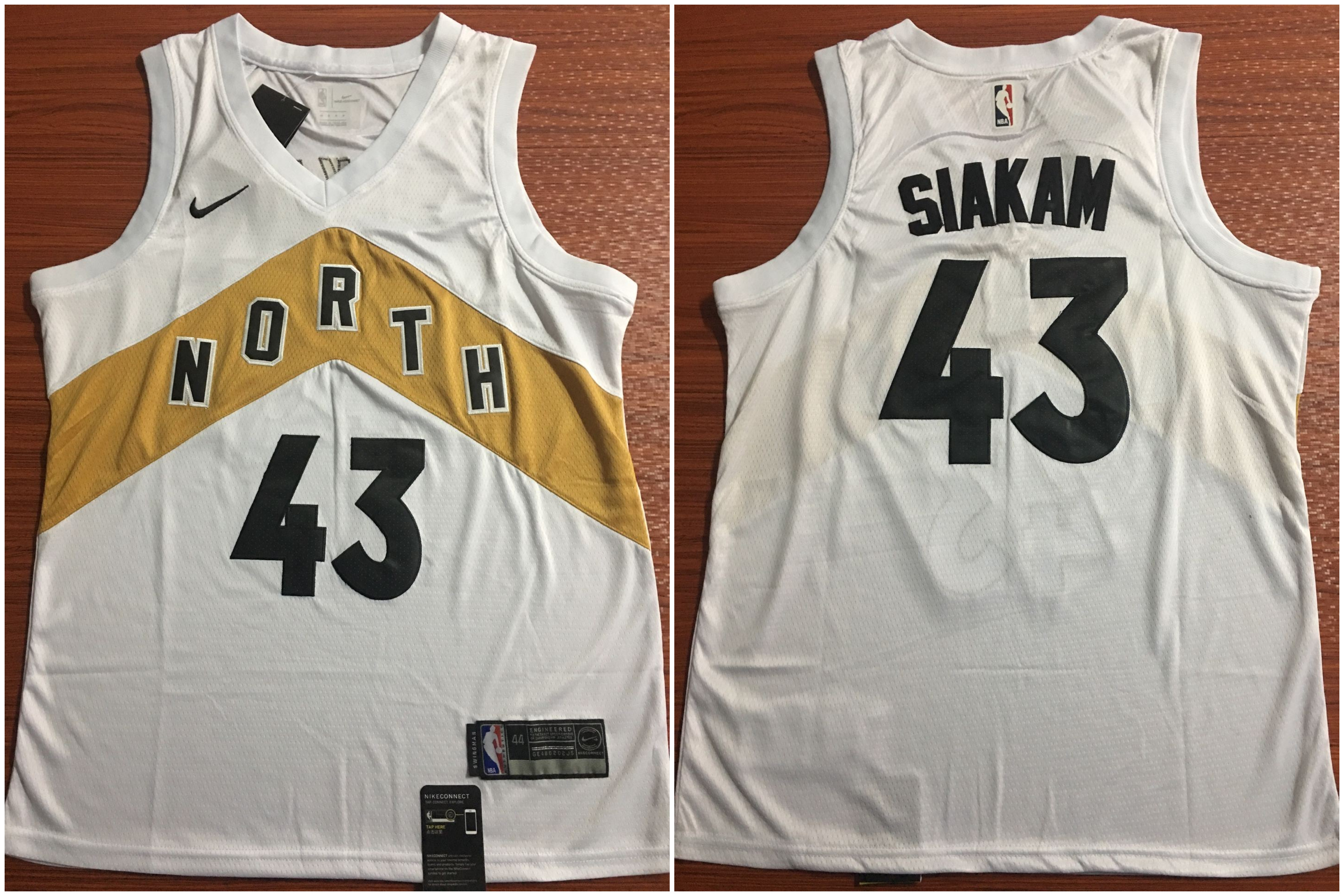 Raptors 43 Pascal Siakam white Nike Swingman Jersey