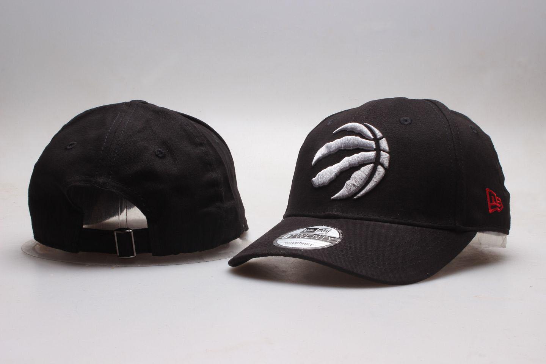 Raptors Team Logo Black Peaked Adjustable Hat YP
