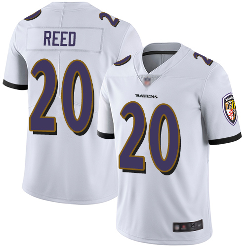 Ravens #20 Ed Reed White Youth Stitched Football Vapor Untouchable Limited Jersey