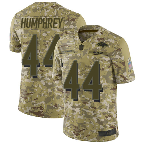 Ravens #44 Marlon Humphrey Camo Men's Stitched Football Limited 2018 Salute To Service Jersey