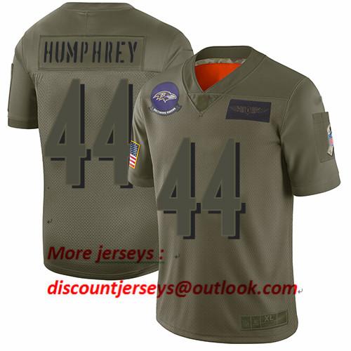 Ravens #44 Marlon Humphrey Camo Men's Stitched Football Limited 2019 Salute To Service Jersey