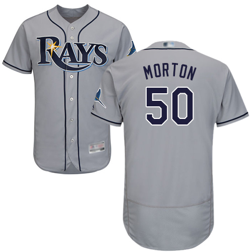 Rays #50 Charlie Morton Grey Flexbase Authentic Collection Stitched Baseball Jersey