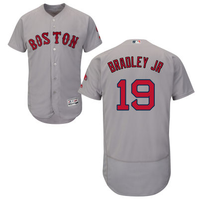 Red Sox 19 Jackie Bradley Jr. Grey Flexbase Jersey