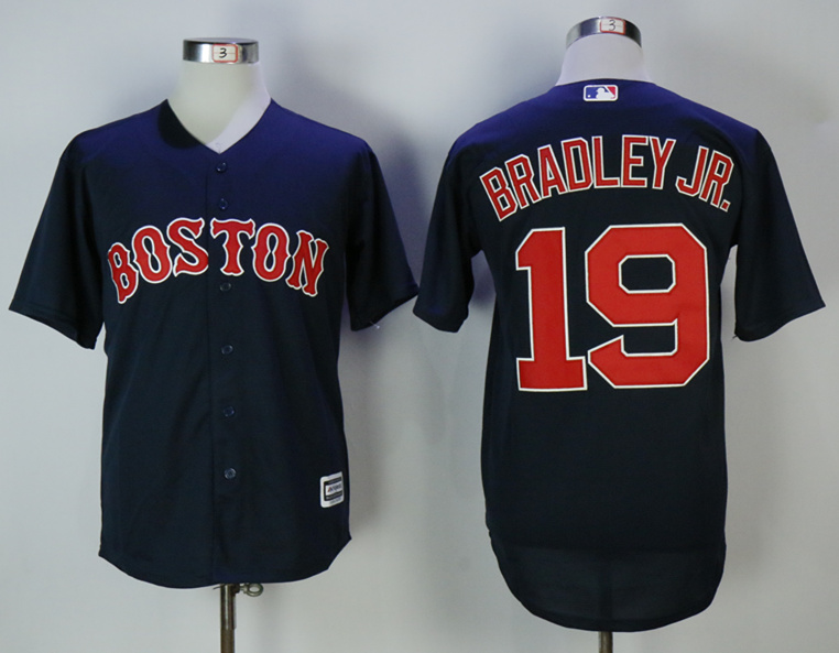 Red Sox 19 Jackie Bradley Jr. Navy Cool Base Jersey