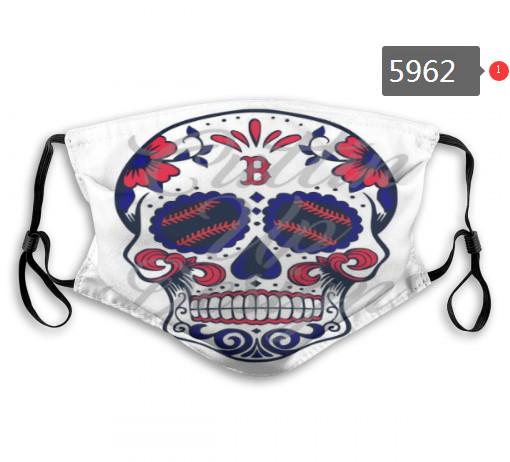 Red Sox Skull Mask with PM2.5 Filter Double Protection    (1)