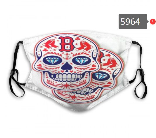 Red Sox Skull Mask with PM2.5 Filter Double Protection (3)
