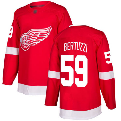 Red Wings #59 Tyler Bertuzzi Red Home Authentic Stitched Hockey Jersey