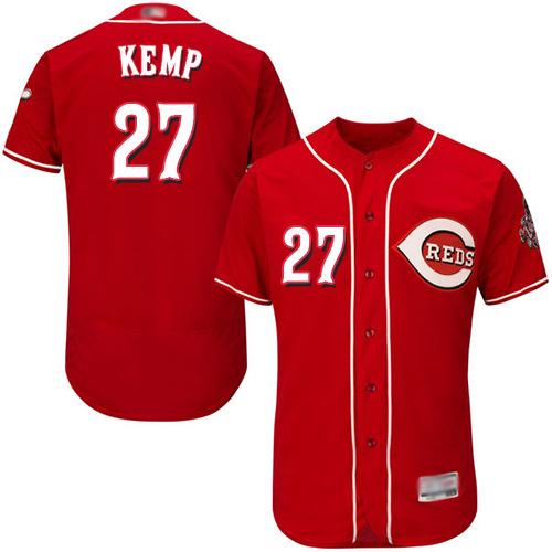 Reds #27 Matt Kemp Red Flexbase Authentic Collection Stitched Baseball Jersey