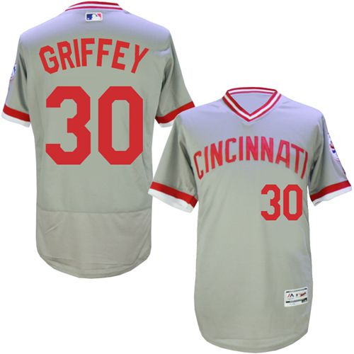 5a52de9031 Loading Zoom, please wait Reds #30 Ken Griffey Grey Flexbase Authentic  Collection Cooperstown Stitched MLB Jersey
