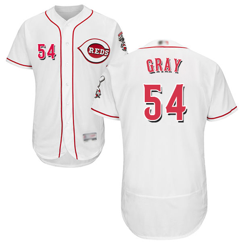 Reds #54 Sonny Gray White Flexbase Authentic Collection Stitched Baseball Jersey