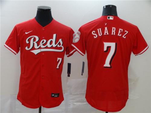 Reds 7 Eugenio Suarez Red 2020 Nike Flexbase Jersey