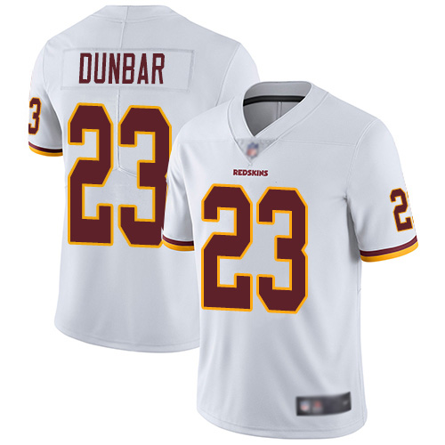 Redskins #23 Quinton Dunbar White Men's Stitched Football Vapor Untouchable Limited Jersey