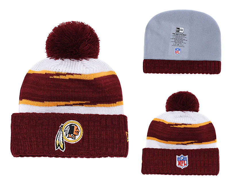 Redskins Fresh Logo Burgundy Knit Hat YD
