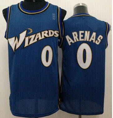 Revolution 30 Washington Wizards #0 Gilbert Arenas Blue Stitched NBA Jersey