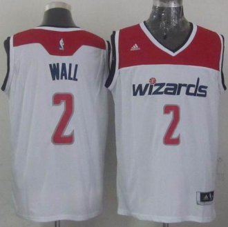 Revolution 30 Washington Wizards #2 John Wall White Stitched NBA Jersey